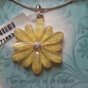 A flower necklace